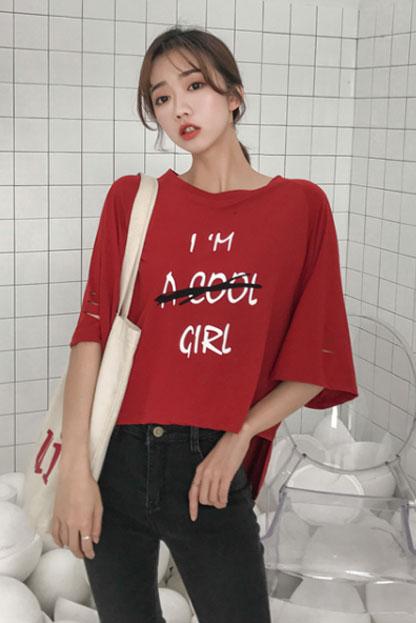 7826#实拍有视频 短袖t恤女夏新款女装圆领宽松ins同款半袖上衣