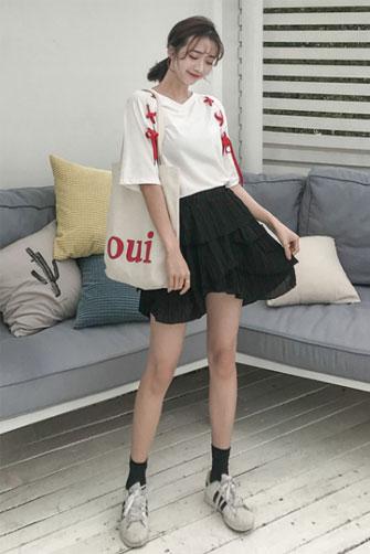 7838#实拍有视频短袖T恤女夏装潮学生宽松原宿风韩范百搭半袖上衣