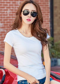 8101#实拍2018夏装新款韩版女装修身上衣纯色百搭纯棉短袖T恤女夏