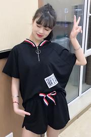 韩版时尚潮短袖短裤休闲运动服套装两件套1794# 实拍已出货有视频