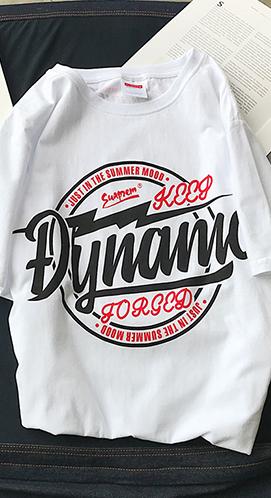 实拍 35棉##032 嘻哈风街头潮流短袖T恤男女