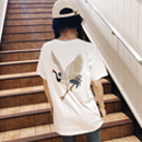 2018新款短袖刺绣T恤 (牛奶丝180克双磨)1277# 实拍#