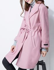 韩版修身毛呢外套女中长款秋冬百搭显瘦时尚大翻领羊绒妮子大衣