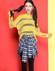 秋冬新款潮弹力显瘦外穿假两件格子衬衫打底裙裤小脚铅笔裤女韩版